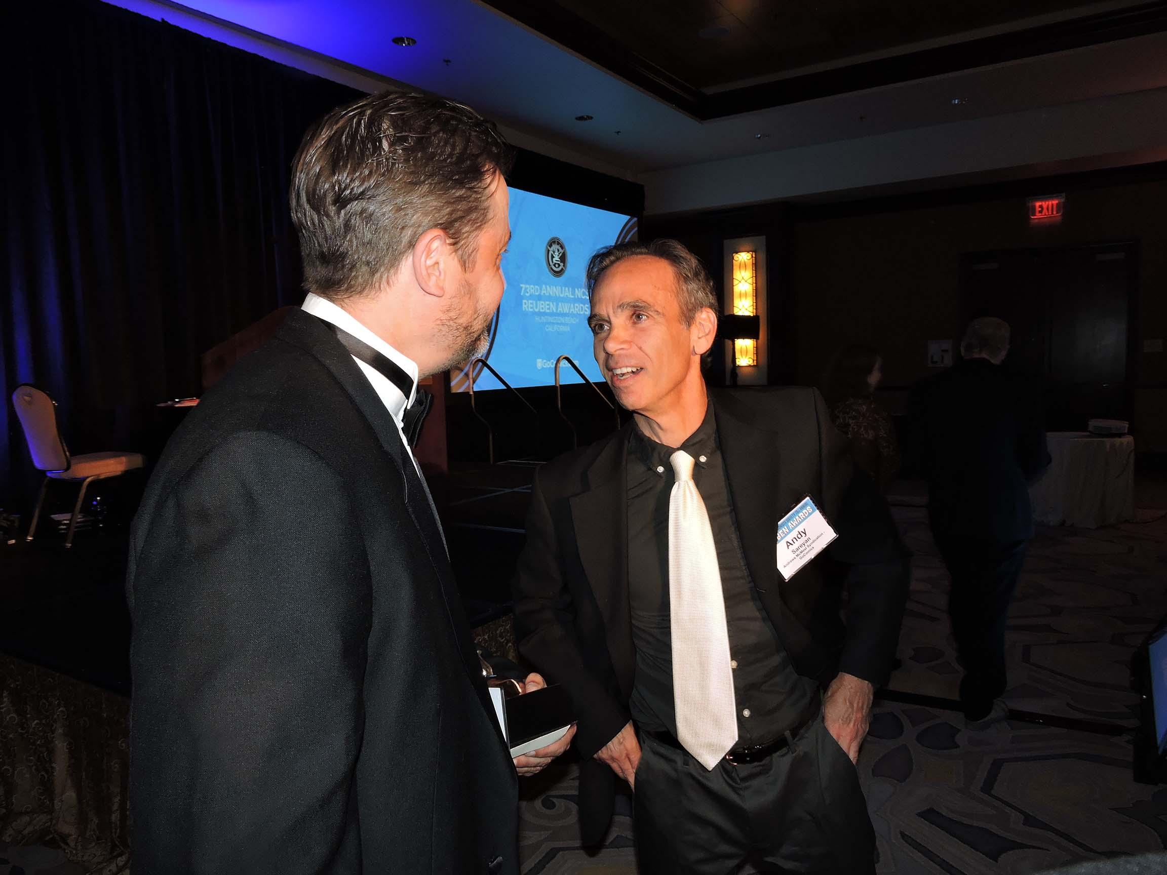 Stephan Pastis (left) and Andy Sareyan