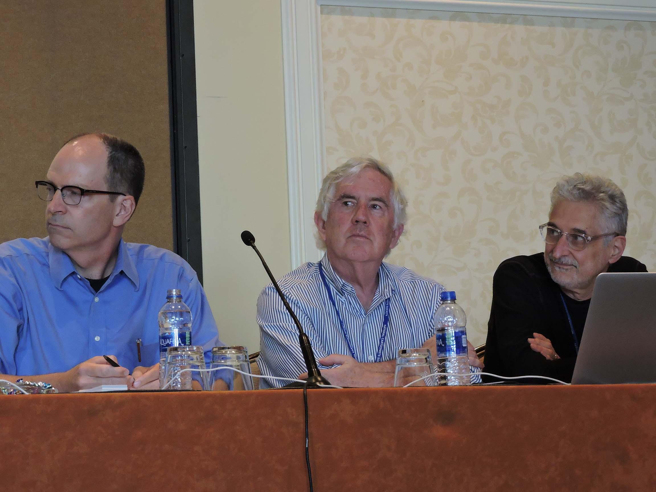 Michael Tisserand, Brian Walker and Patrick McDonnell (l-r)...