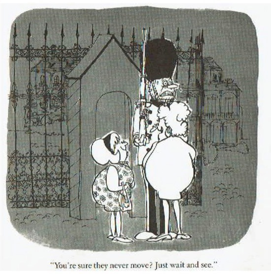 "Fanny made one final appearance in this panel in Sergio's cartoon book ""Aunt's in Your Pants: Memoirs of a Dirty Old Woman"" (1967)"