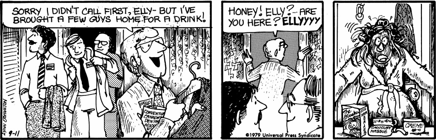 The second daily  For Better or for Worse  strip (September 11, 1979)