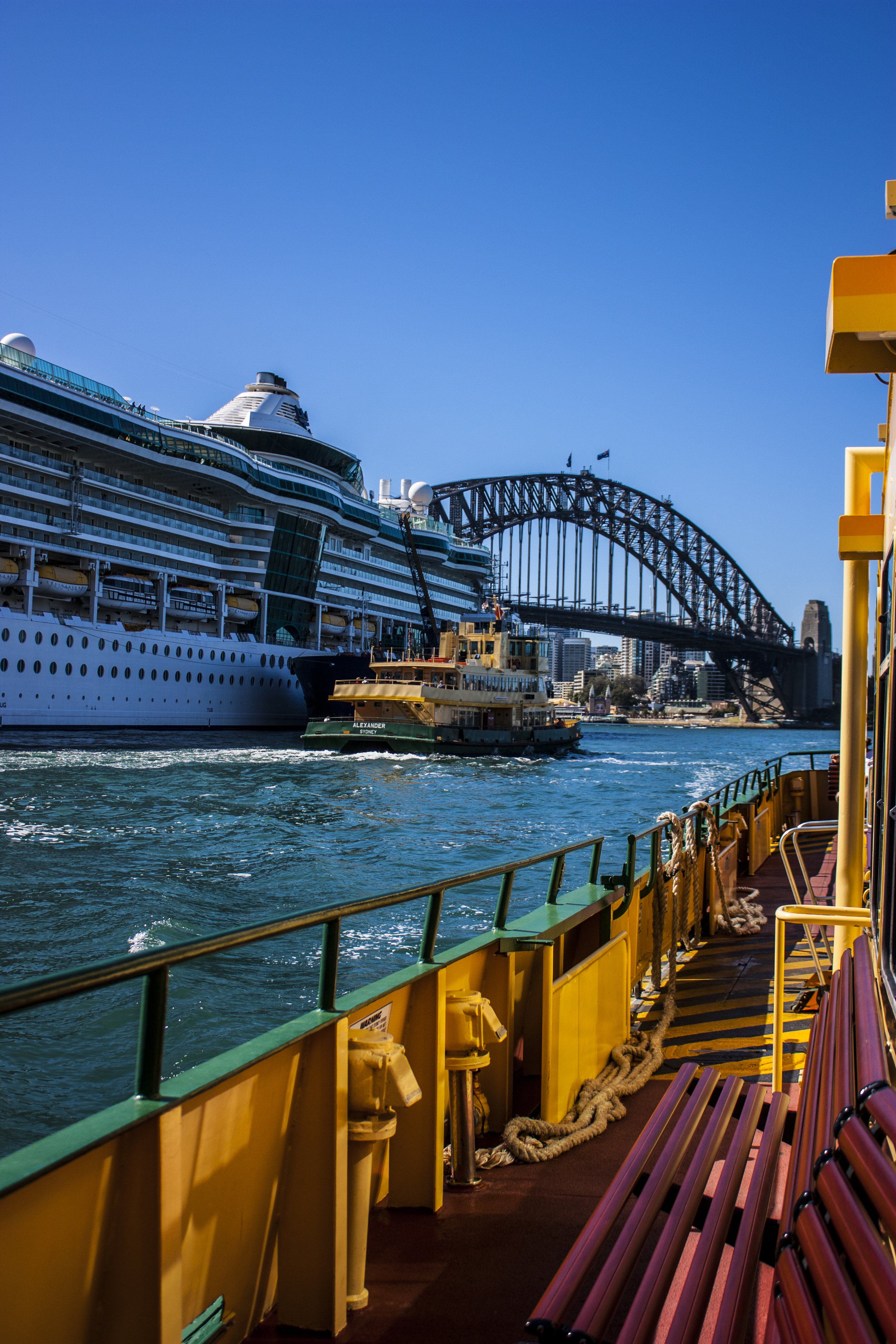 Australia_Sydney_Sydney Harbor Bridge From Water Taxi.jpg