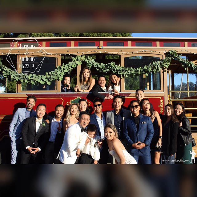 Need more than 1 photo template? Das Booth got you covered! Congrats to Margaux and Anthony on your special day and thank you again for having Das Booth. We've never been to a wedding with an actual #SF #CableCar before!