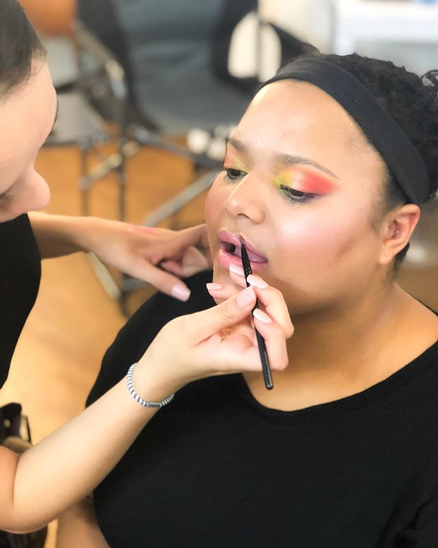 Student color theory applications 💯🌈❤️ #southwestinstituteofmakeupartistry #southwestschoolofmakeup #albuquerque #newmexico