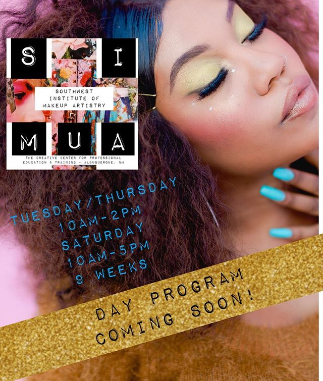 DAY PROGRAM!! Who's ready?? Starts this fall, DM for details 🌟 Limited space available 💕💕 #southwestinstituteofmakeupartistry #southwestschoolofmakeup #albuquerque #newmexico #certifiedmua