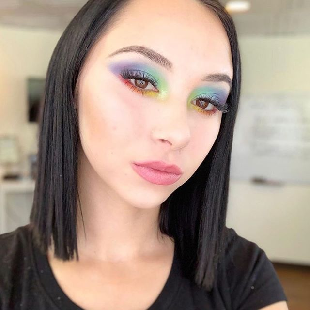 OBSESSED with this gorgeous color theory inspired makeup look by current @southwestmakeupinstitute student @duran_makeup23 ❤️💛💙💚🧡💜 #southwestinstituteofmakeupartistry
