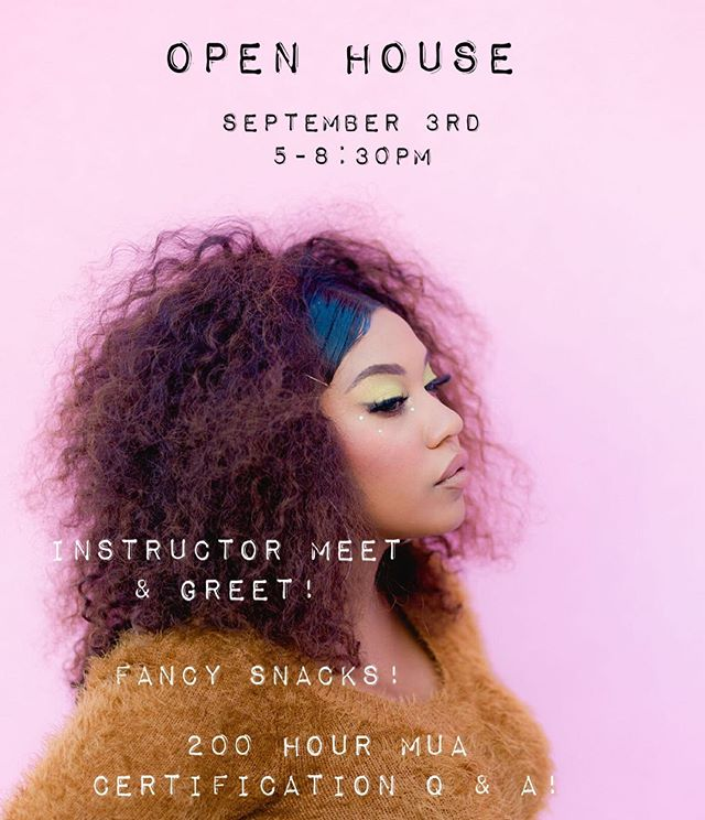 Don't forget to stop by for our first open house! All the @southwestmakeupinstitute instructors will be in house to answer any and all questions you have about becoming a Certified MUA ❤️❤️❤️ #southwestinstituteofmakeupartistry #albuquerque #newmexico