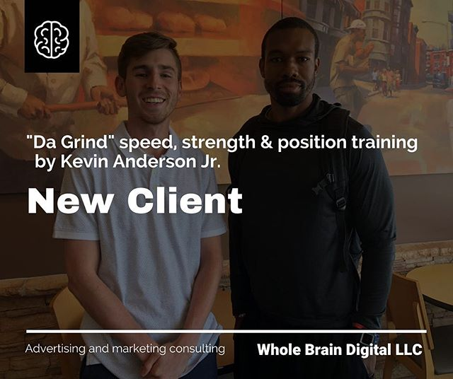 """I never thought I would have the opportunity to work alongside one of my former high school track #coach. The motivating energy Coach @dagrindtime exudes is unmatched.  I guess it's """"once a teammate, always a teammate"""" type of thing. @wholebraindigital is going to help take his training business to the next level!  Some #video, #socialmediaand #webdevelopmentcoordination is underway for the St. Louis Metro area based-business."""