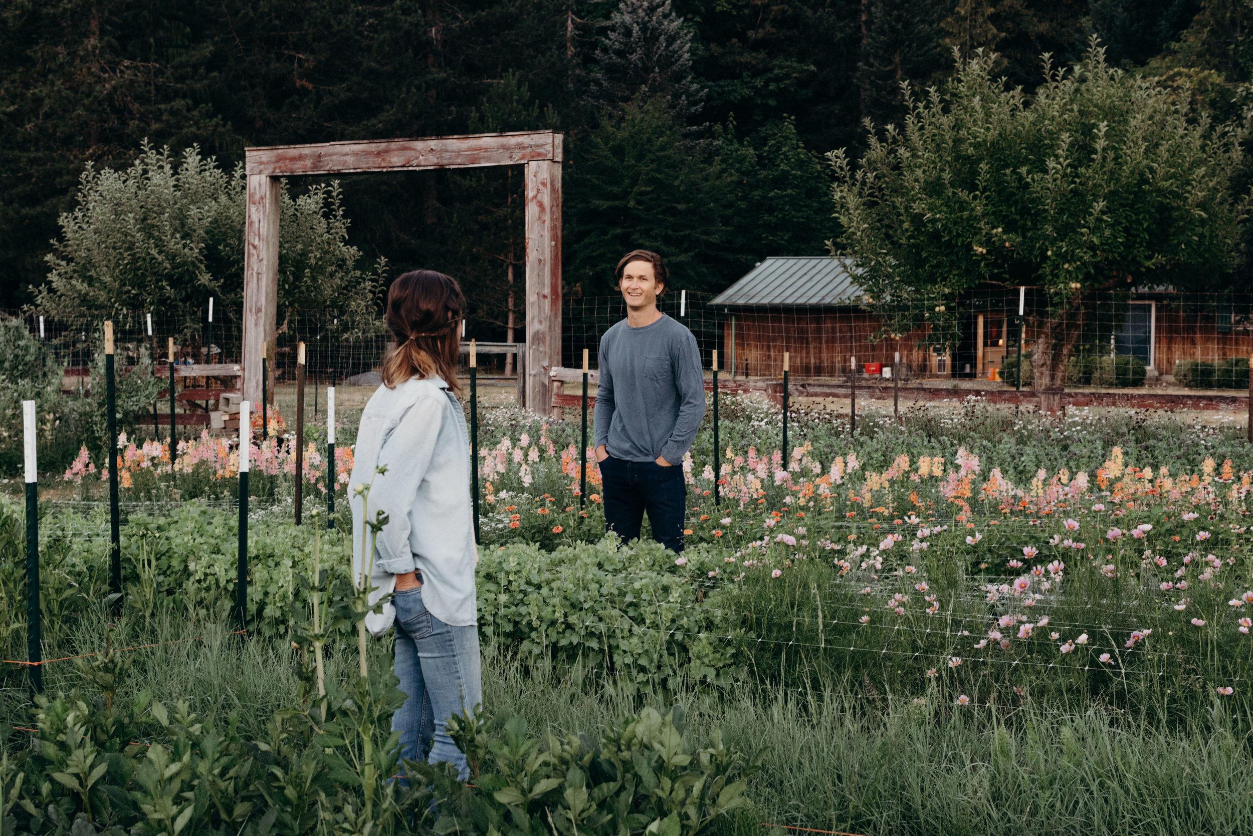 Audrey and Wally at farm
