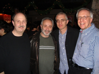 L-R: MMF Board Members Steve Scharf, Alan Wolmark,  Michael Hausman, and MMF President Barry Bergman