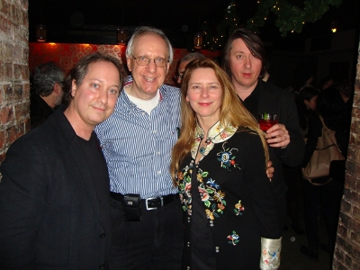 L-R: MMF board member Jack Bookbinder, MMF President  Barry Bergman, with Allison McGourty & Bernard MacMahon of Lo-Max (UK)