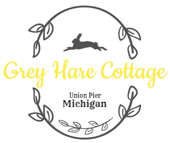 Grey Hare Cottage Union Pier Lake Michigan Vintage Cottage Vacation Rental AirBnB VRBO Summer Family Vacation Southwest Pure Michigan Harbor Country Travel Adventure New Buffalo Three Oaks