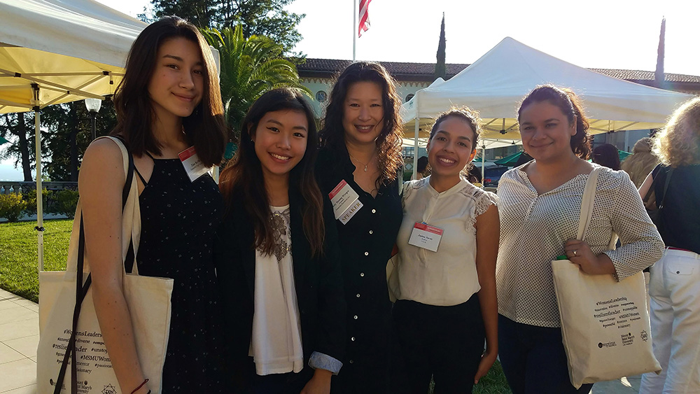 Mount Saint Mary's University | Women's Leadership Conference  | Sept 2017 Zina Baylis;  Chloe Liu ; Lindy Huang Werges;  Jessica Naves ;  Michelle Reyna