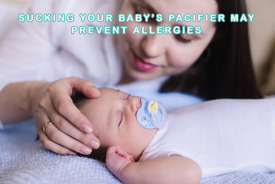 Sucking Your Baby's Pacifier May Prevent Allergies