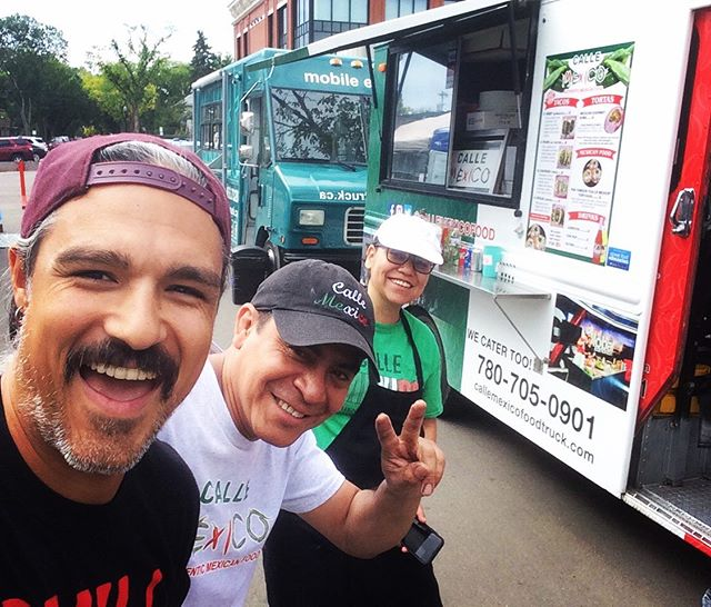 Hanging out tonight at he @124grandmarket with our pals @callemexicorestaurant ✌️ See you tonight from 4-8! . . . #yegfoodtrucks #yegfood #marketdinner #summertime #yeg #eatson124street