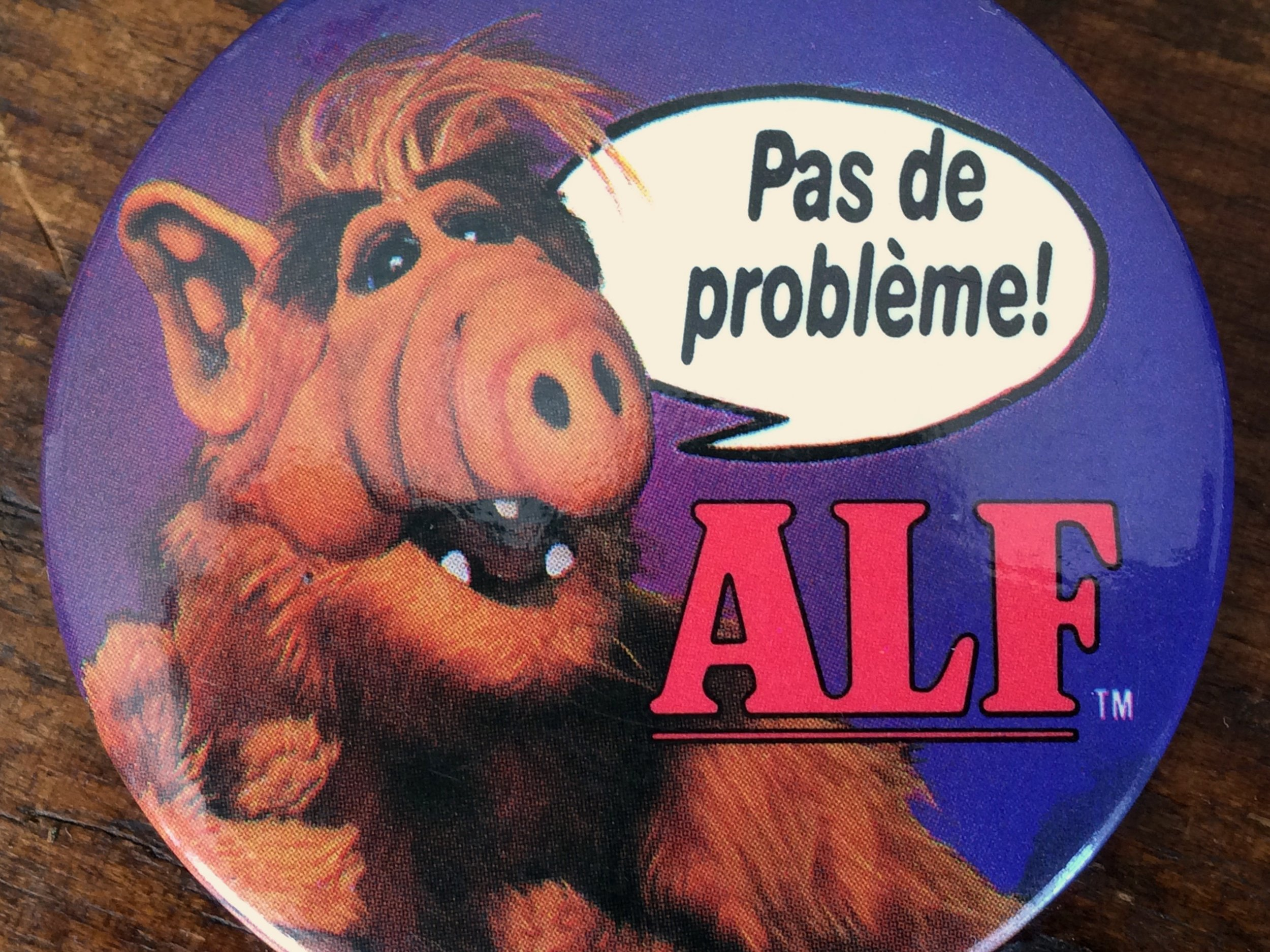 French ALF Button 1986