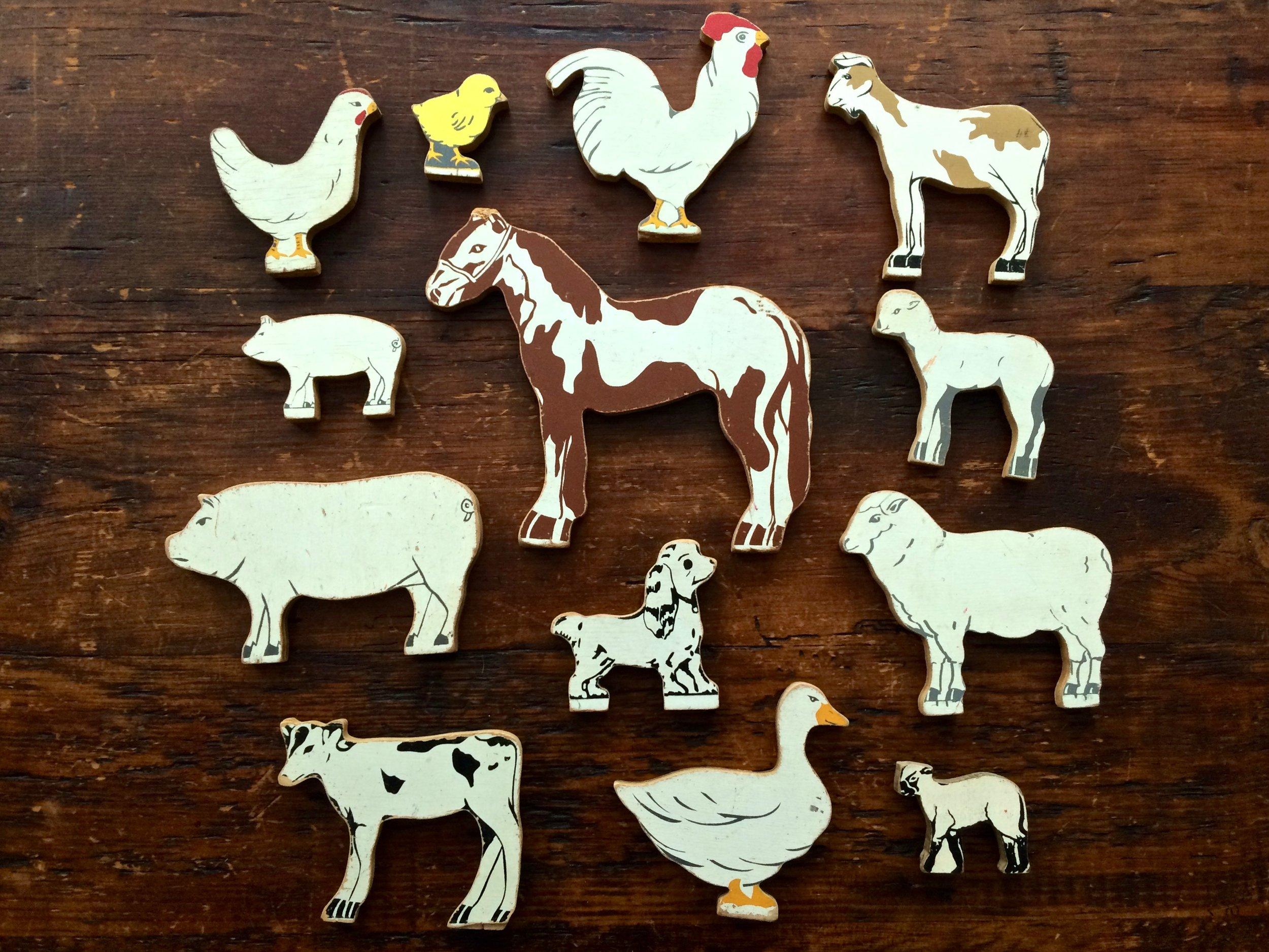 Wooden Toy Farm Animals