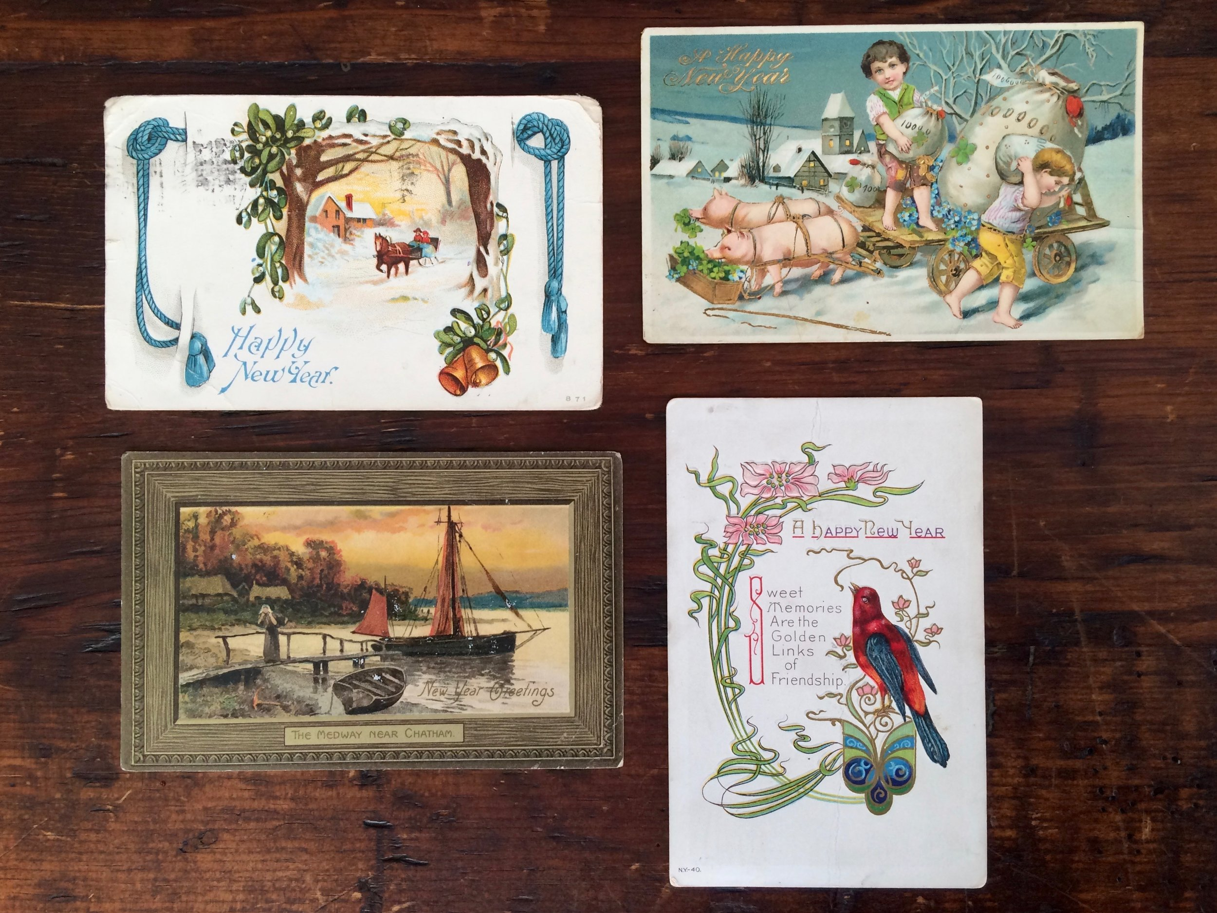 New Year's Eve Postcards