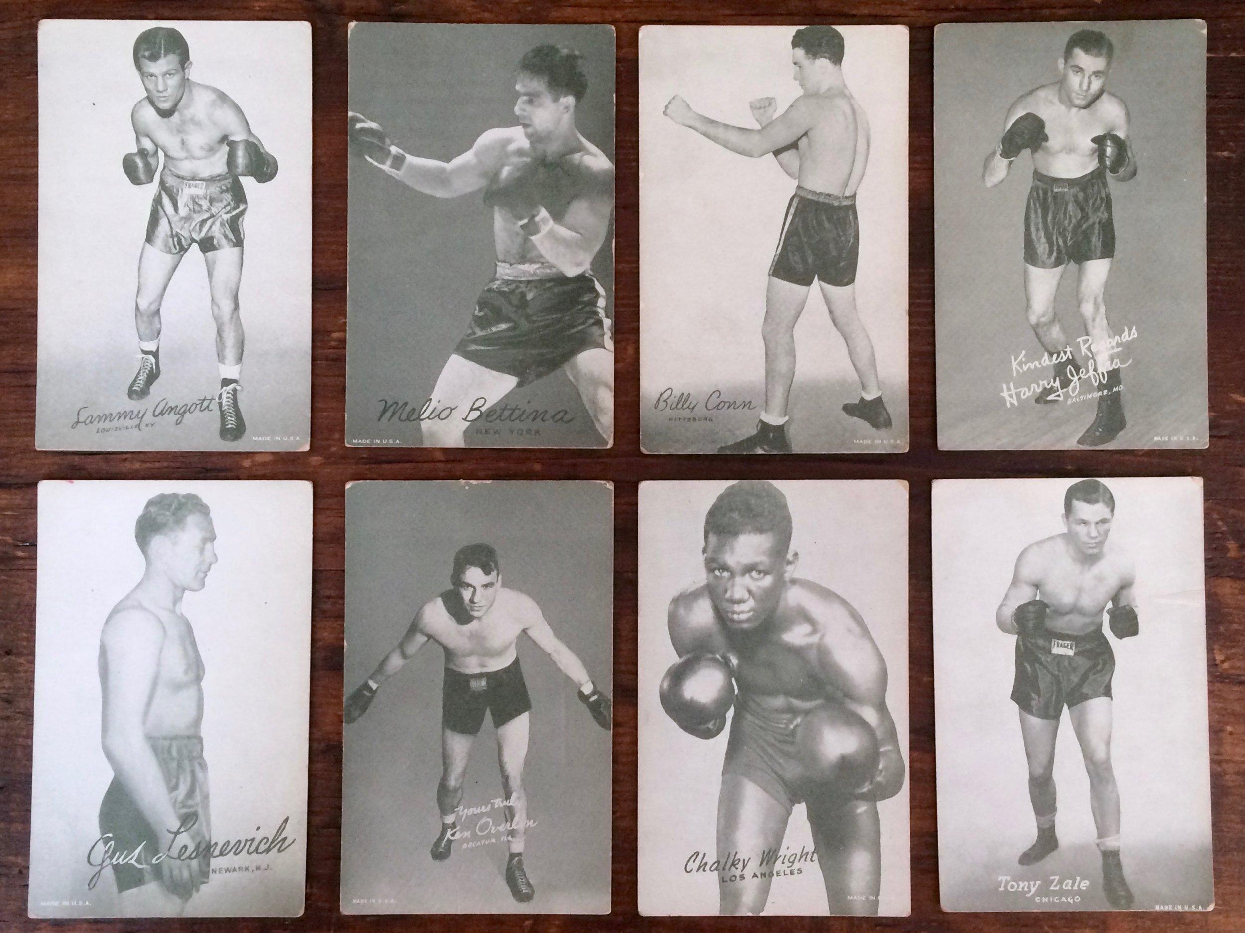 Boxing Exhibit Cards