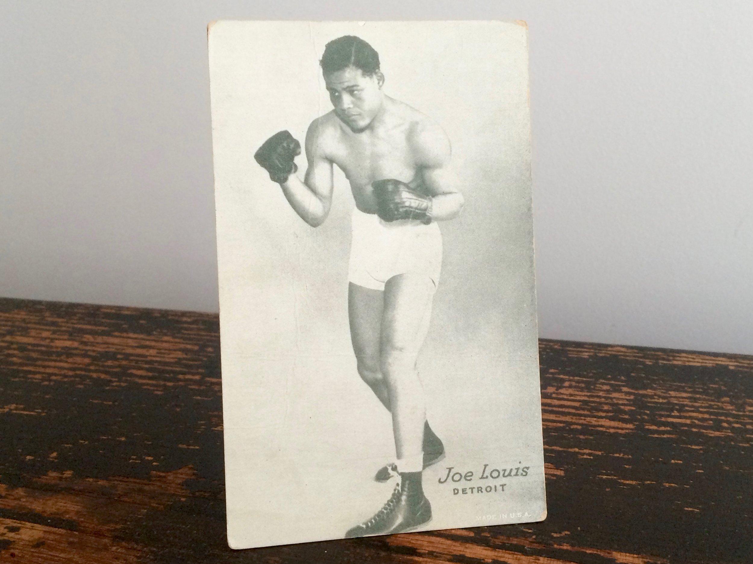 Joe Louis Exhibit Card