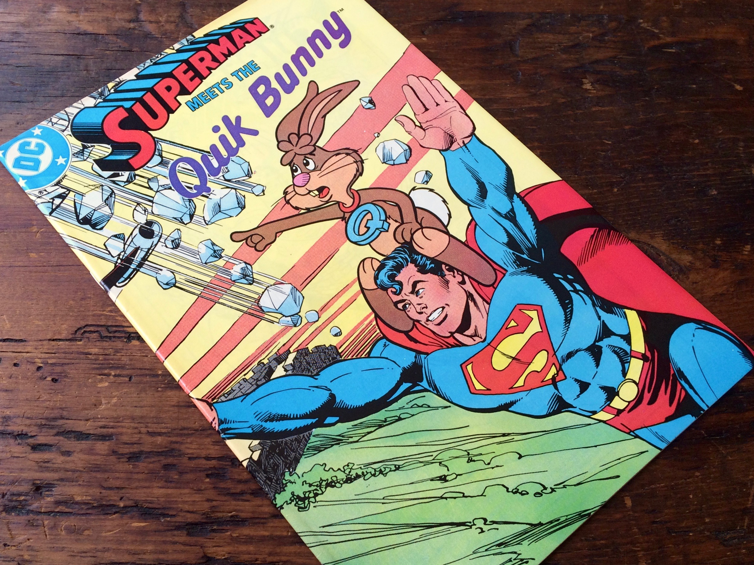 Superman Meets the Quik Bunny