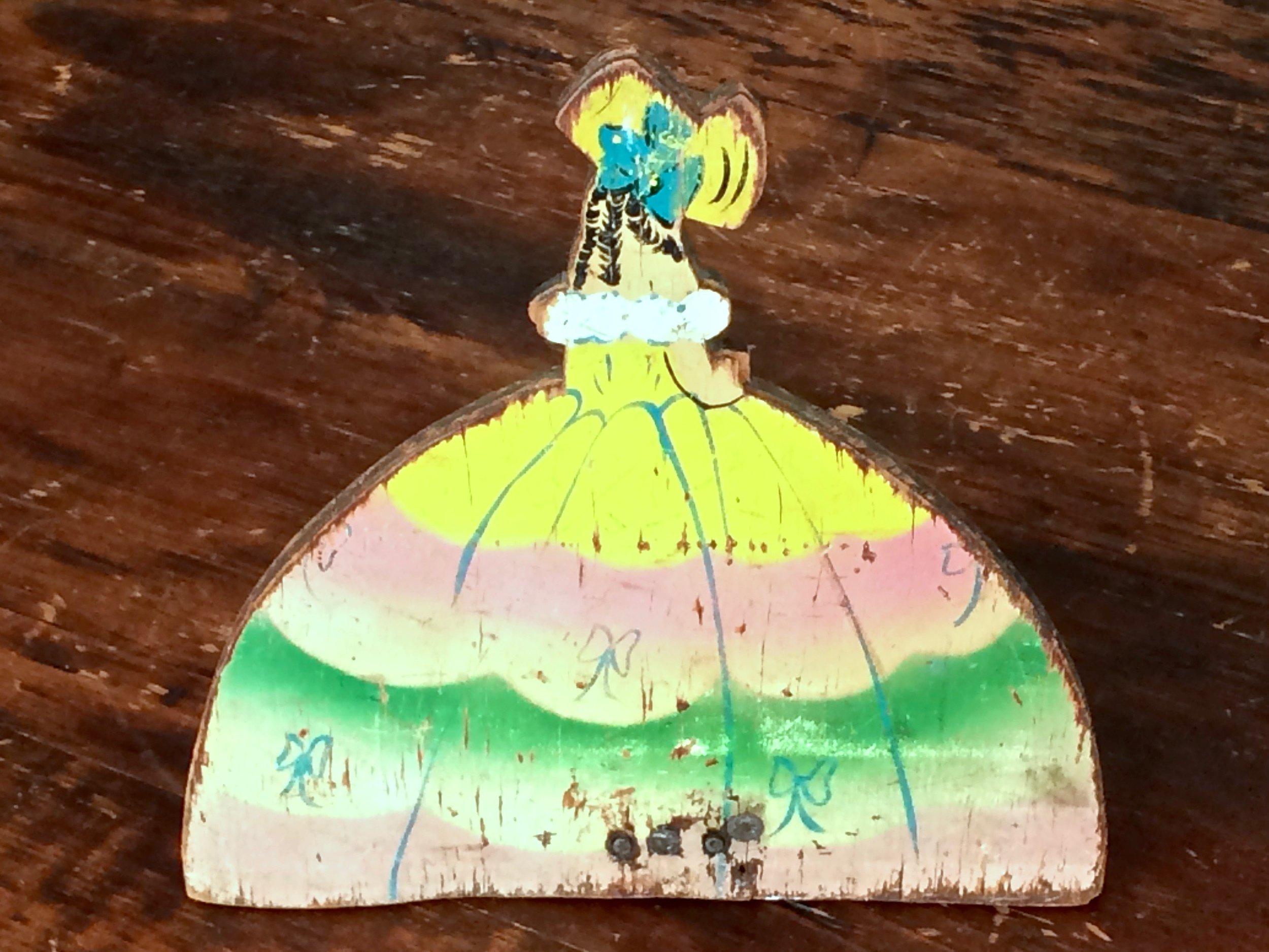 Little Lady Wooden Doorstop