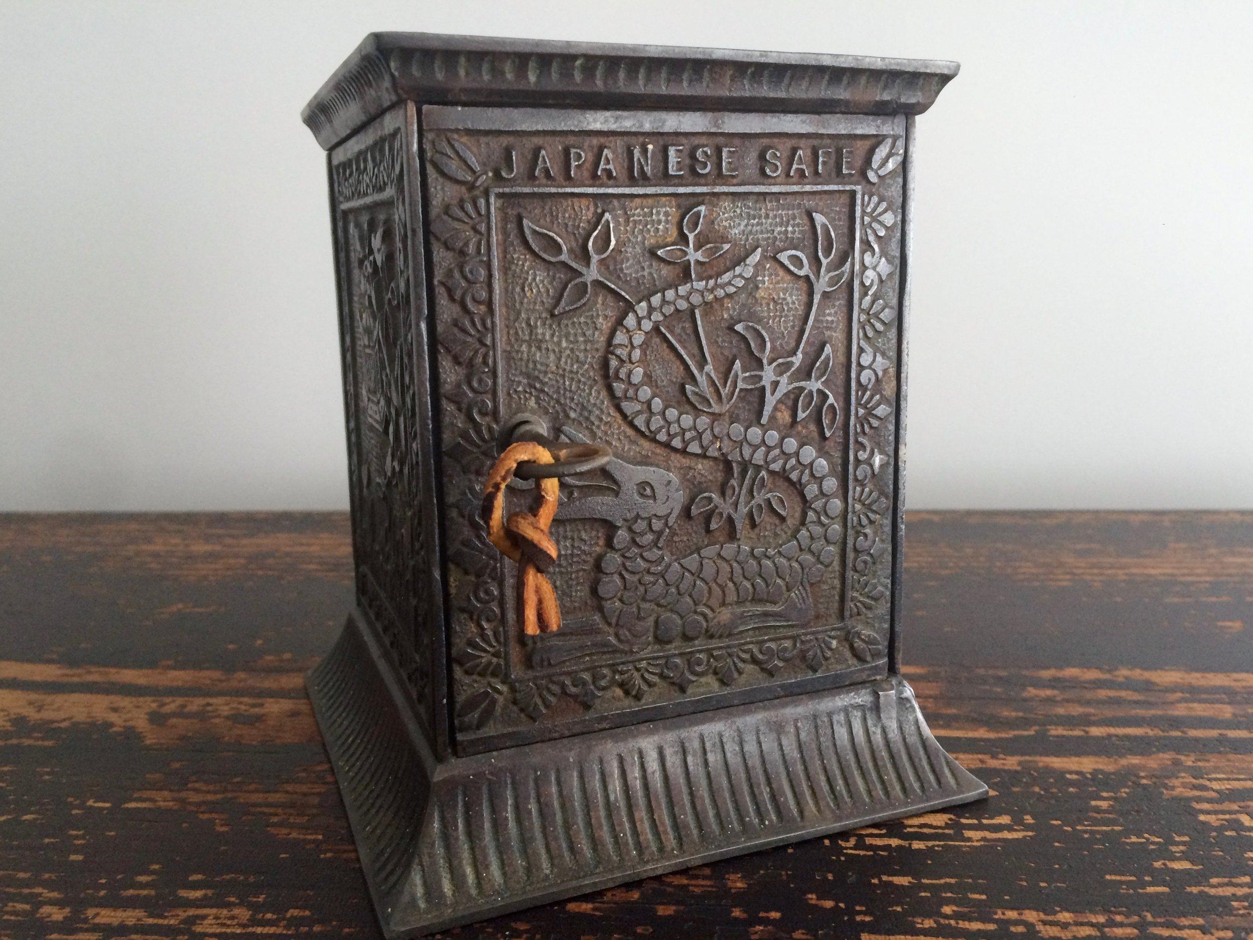 Cast Iron Japanese Safe Bank 1880s