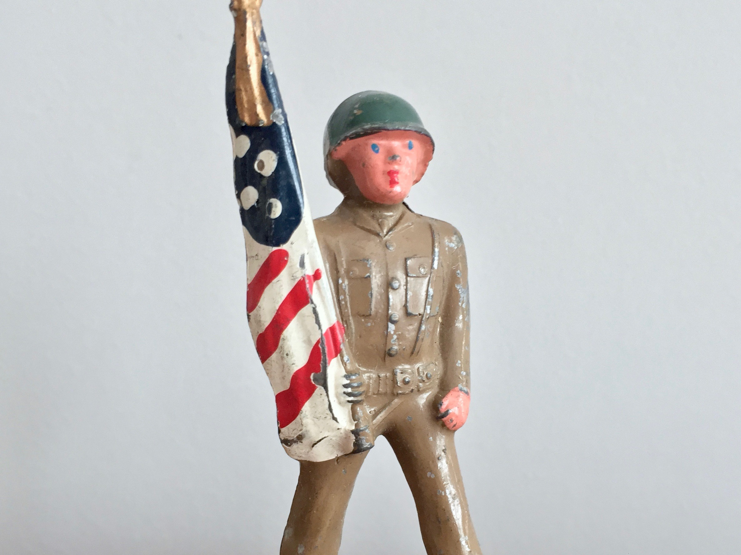 Barclay Toy Soldier Flag Bearer