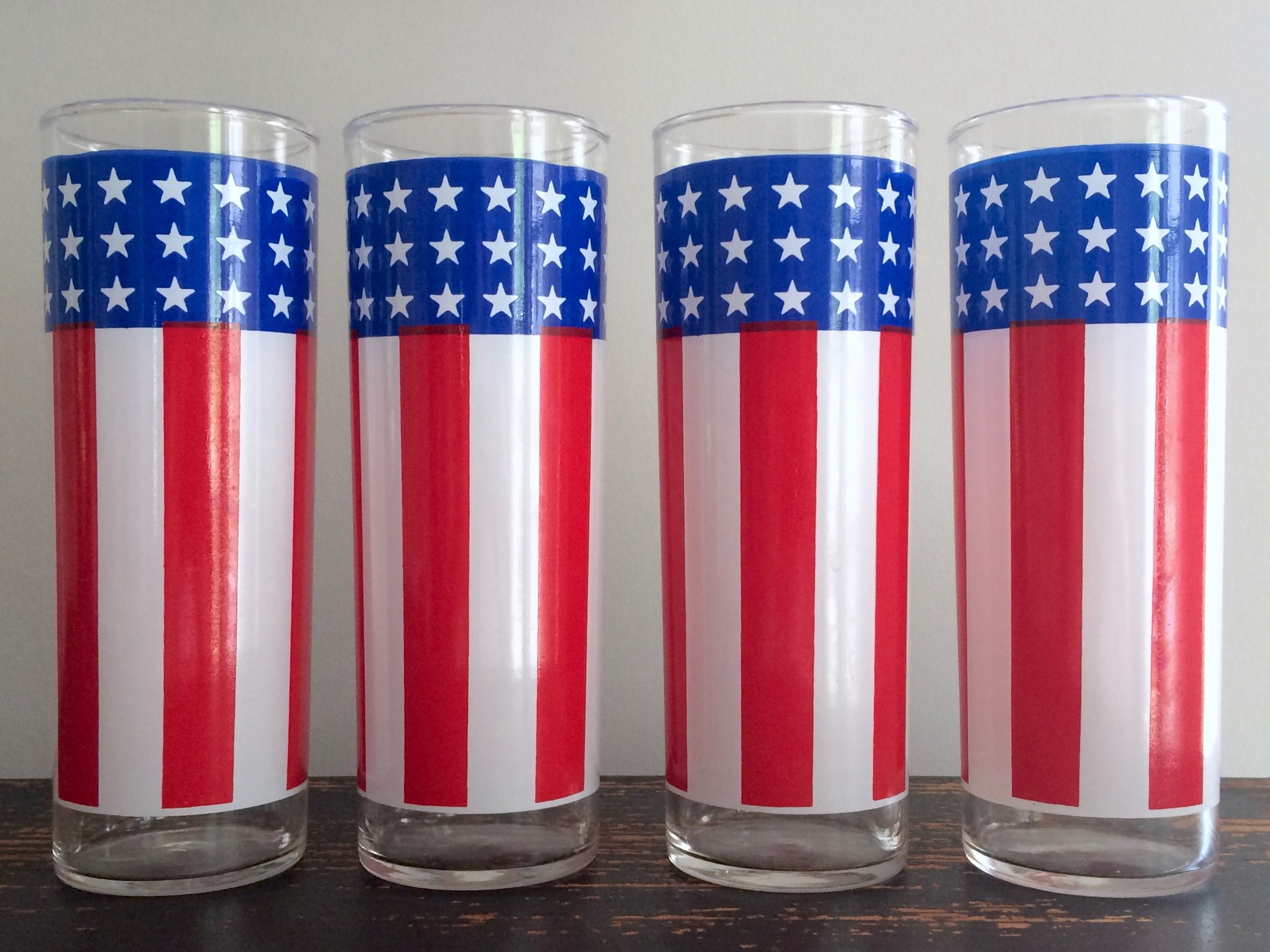 American Flag Collins Glasses