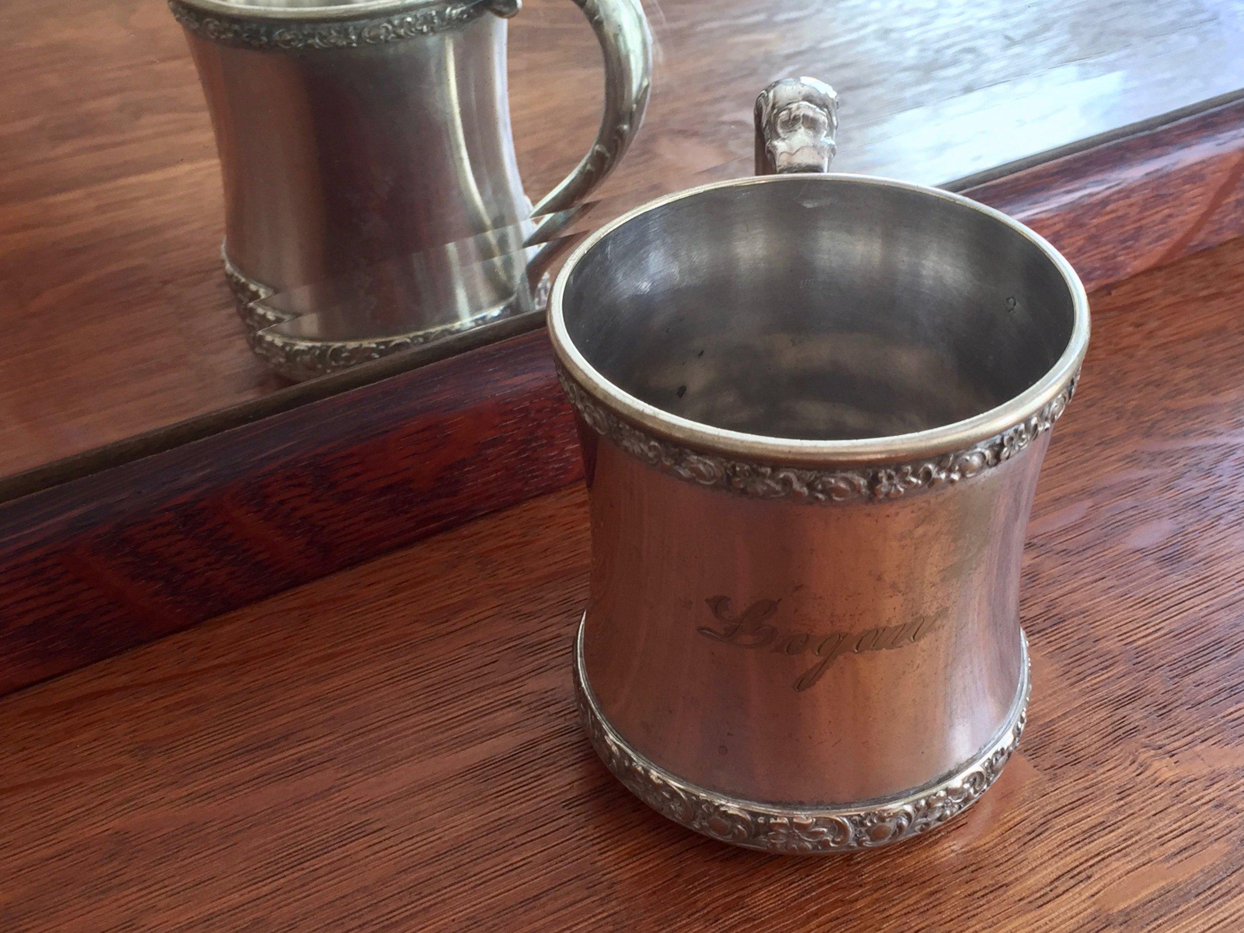 Silver Baby Cup · Logan