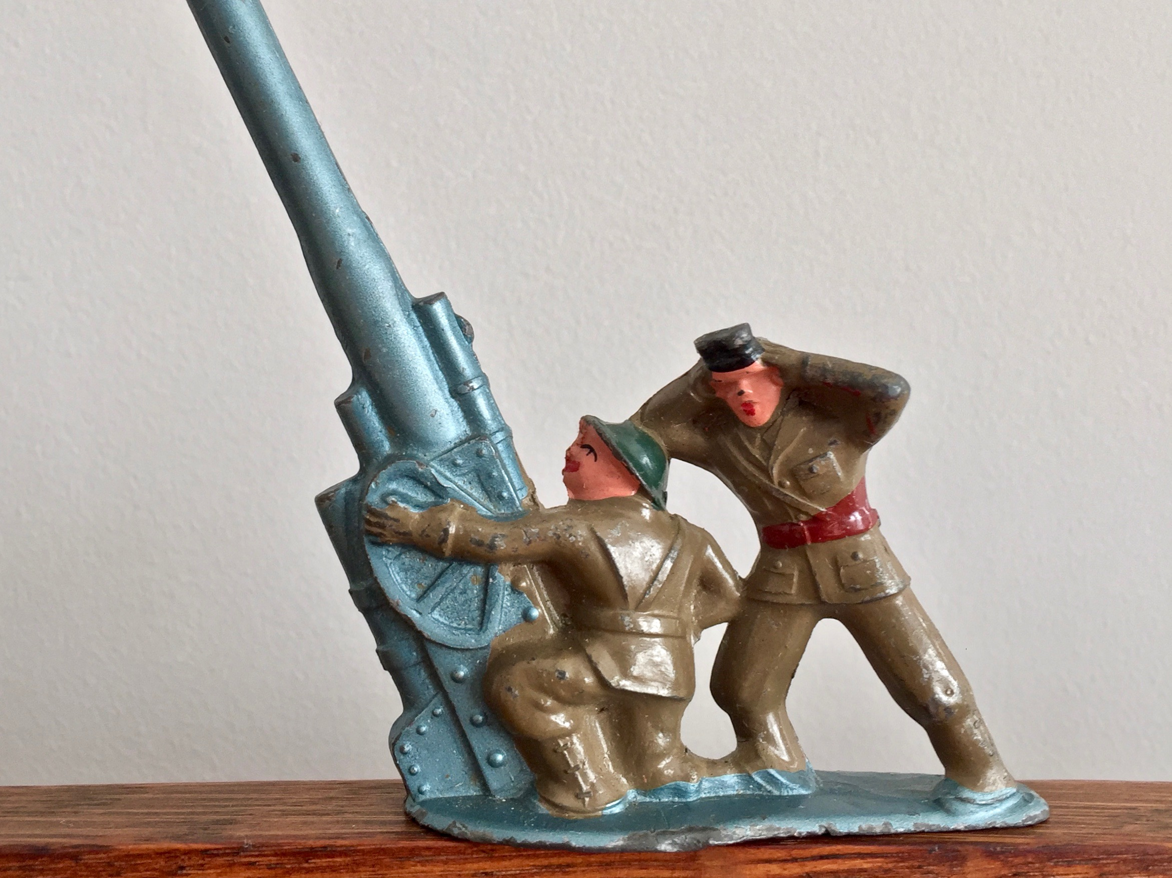 Barclay Toy Soldiers Antiaircraft Gun