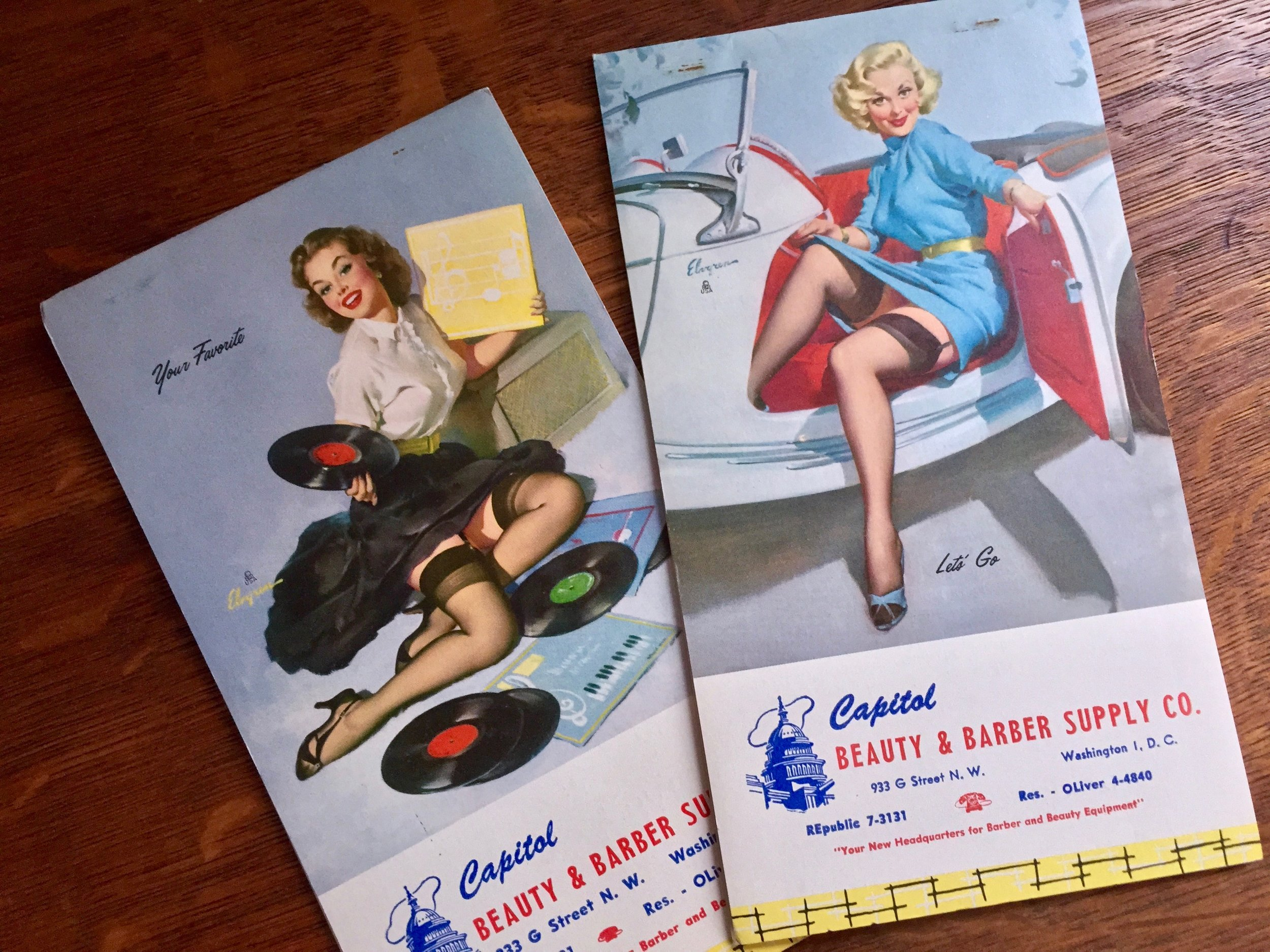Vintage Pin-Up Girl Notepads