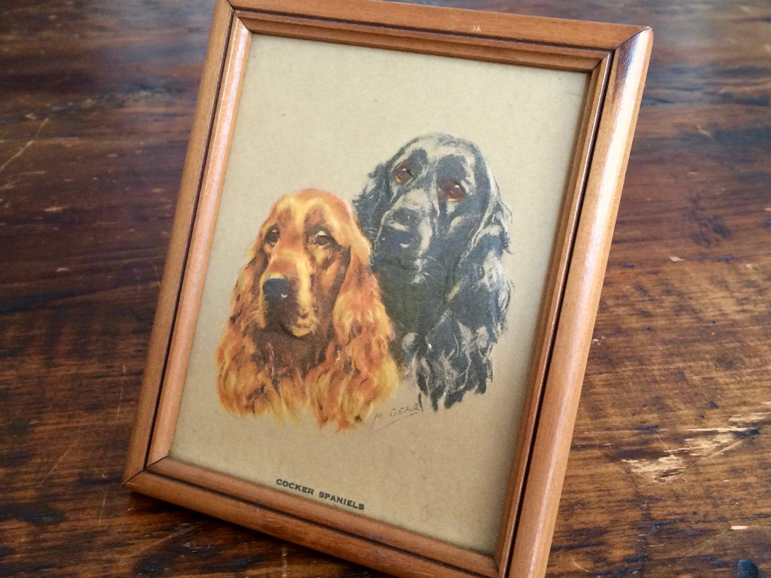 Cocker Spaniels Embossed Print