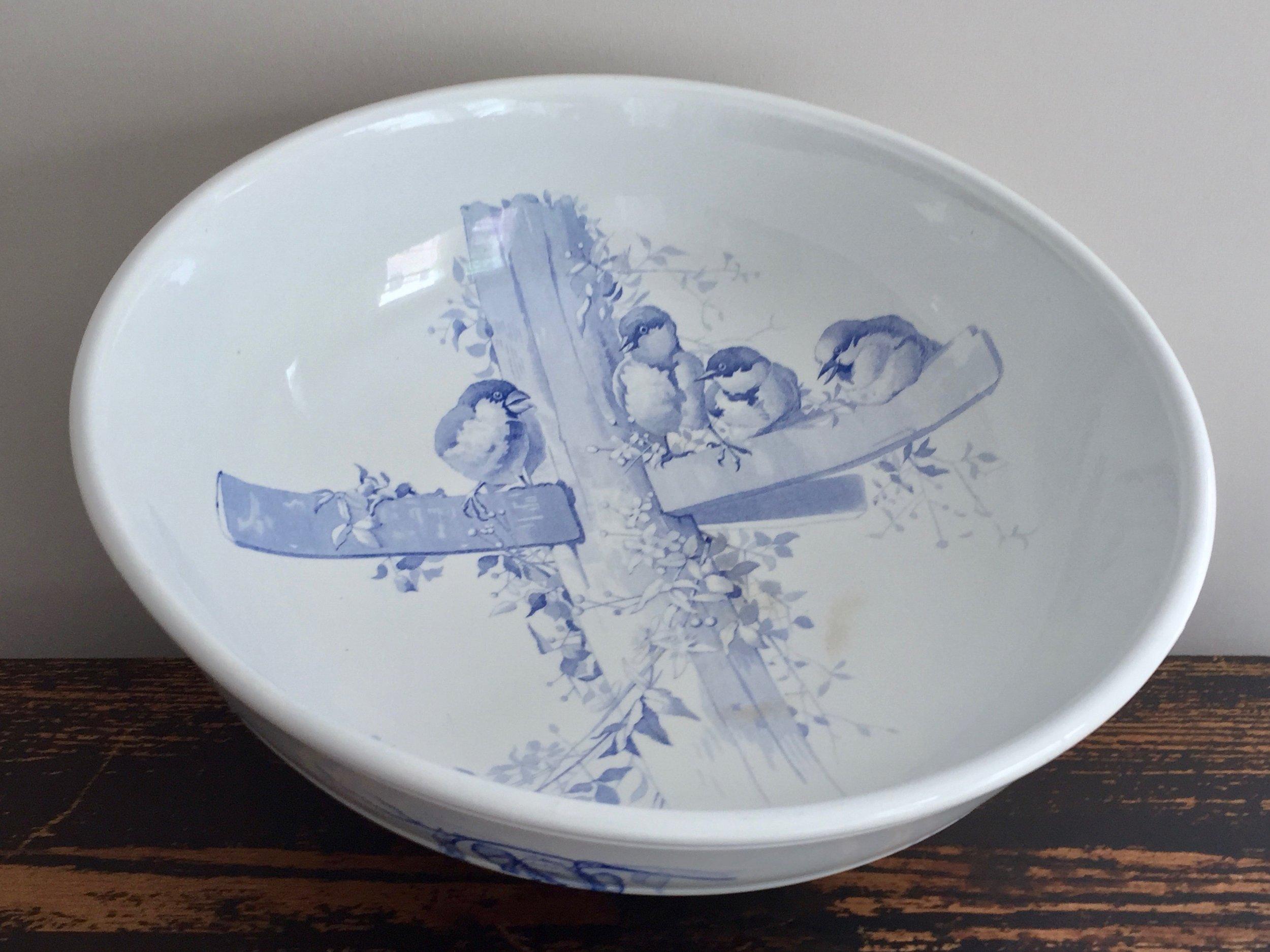 Victorian Transferware Bowl · Brown-Westhead Moore