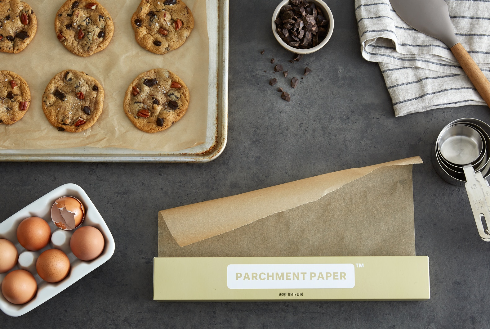 Unbleached Parchment Paper - To be honest, I've never used parchment paper before. This is a HUGE upgrade from the aluminum foil I've been using. I used it to bake veggies and it was perfect! Nothing stuck to the parchment and it didn't burn. Note: The parchment paper is safe to use up to 445º.