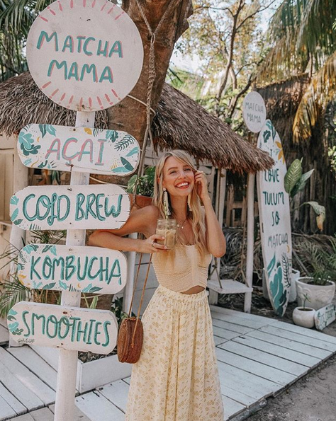 Oh, and she's also beautiful! This is another photo from her trip to Tulum that furthers my want to visit!
