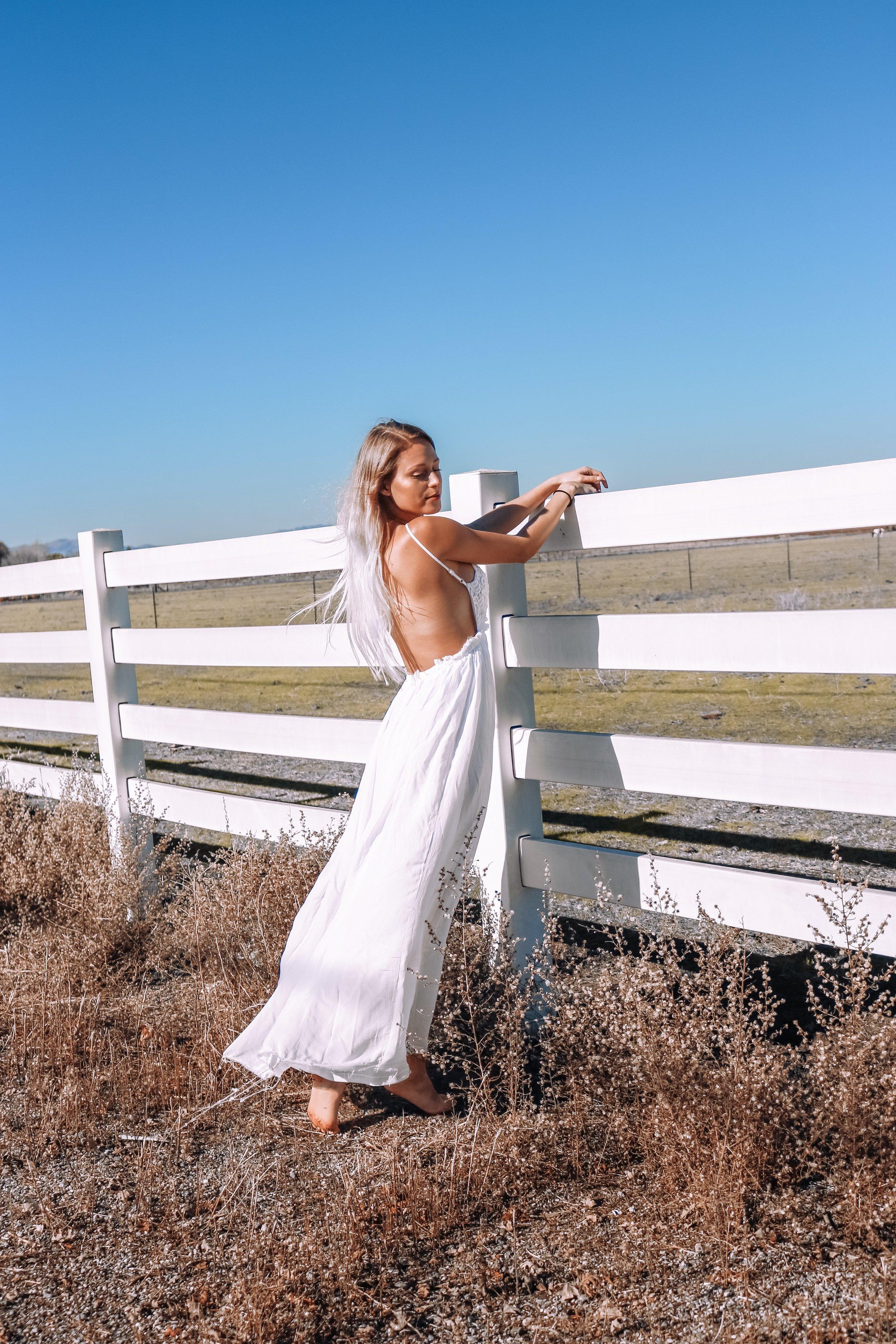 Thrifted white dress – Kessler Ramirez