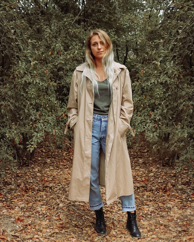 thrifted trench coat – Kessler Ramirez