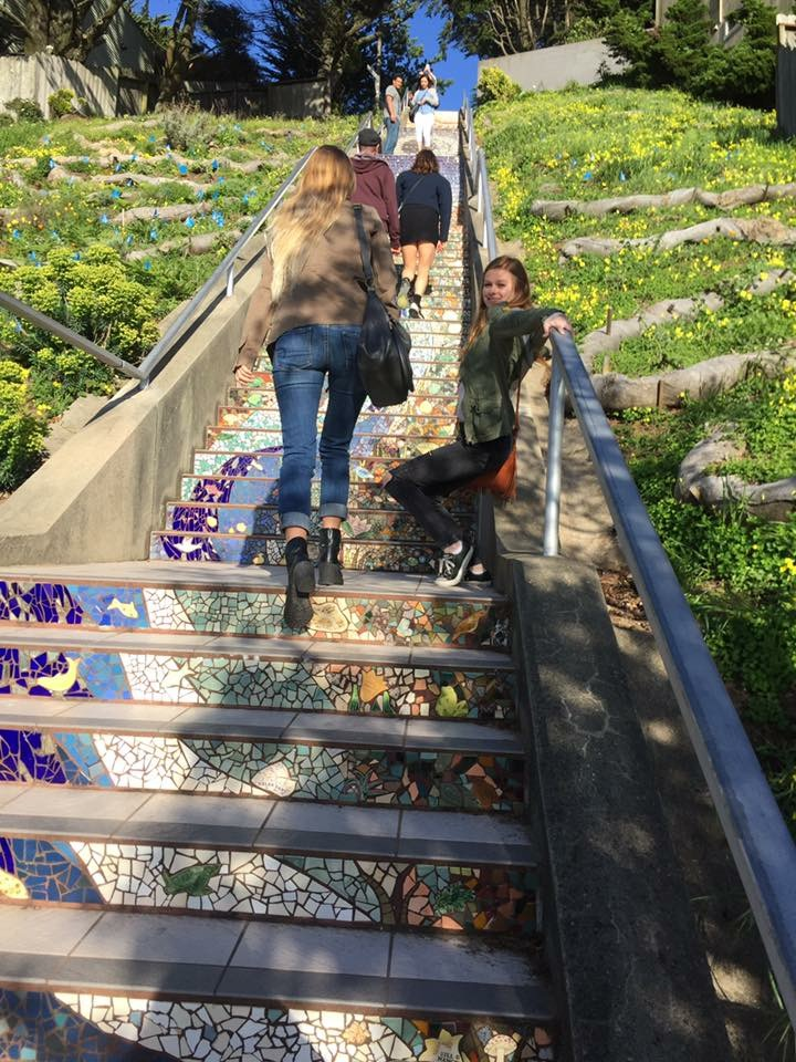 Reality of the tiled steps
