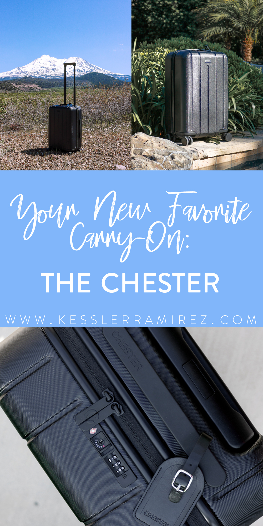 The Chester Carry-On Suitcase – Kessler Ramirez