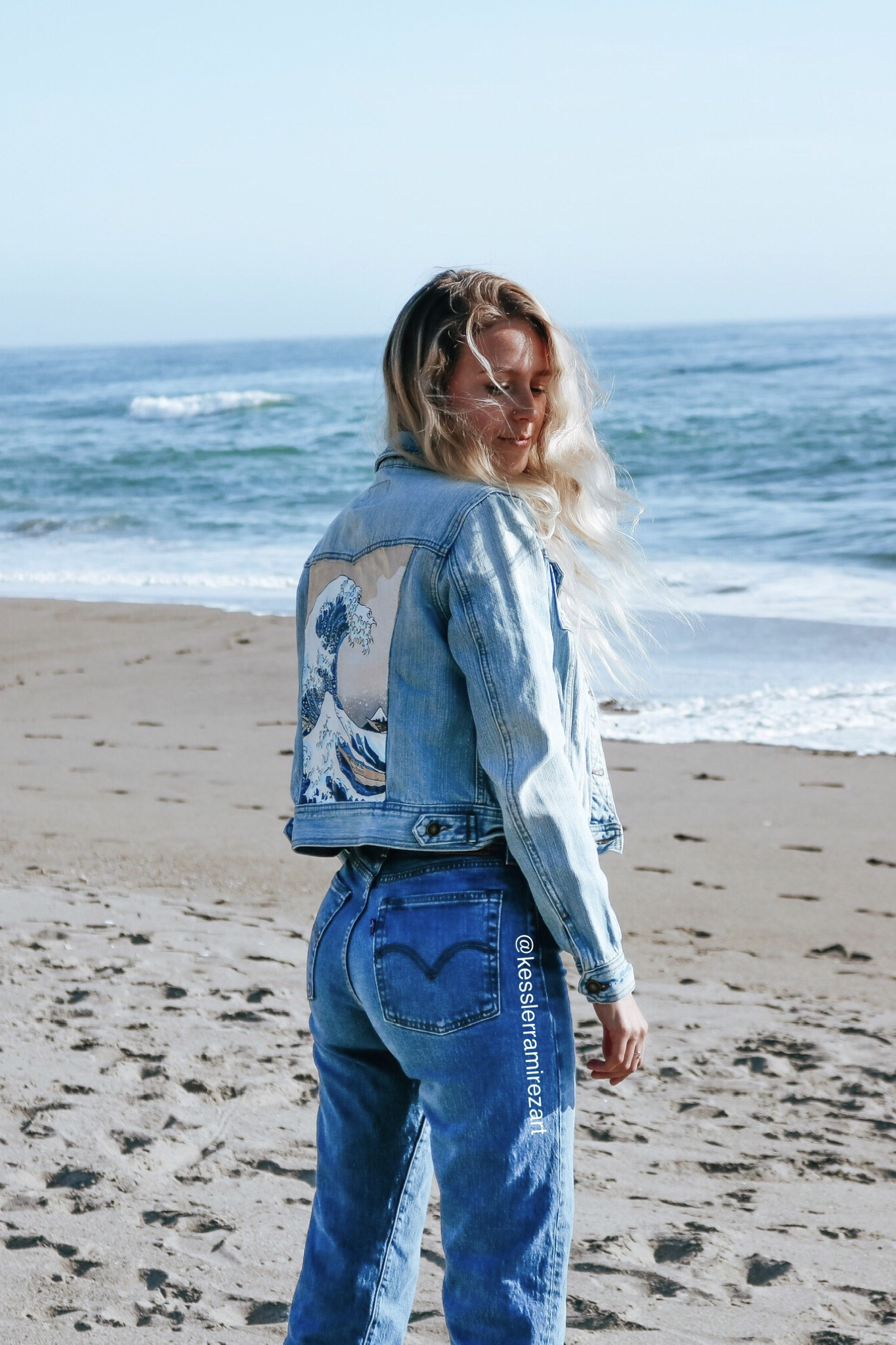 my painted denim business - Most of my time lately is spent painting on jeans and denim jackets. It has been such a fun experience creating an art business and growing my community on Instagram.