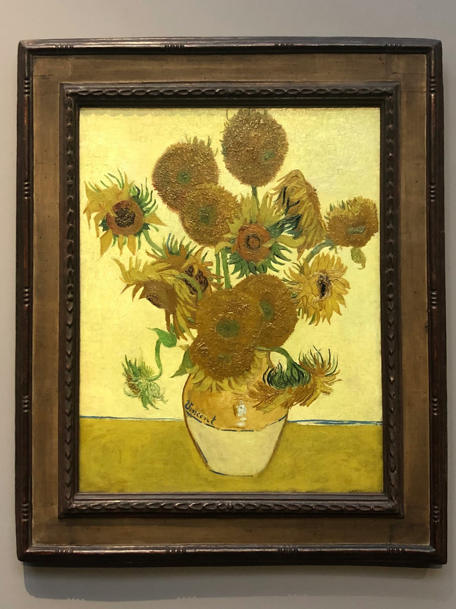 Van Gogh Sunflower Painting at the National Gallery