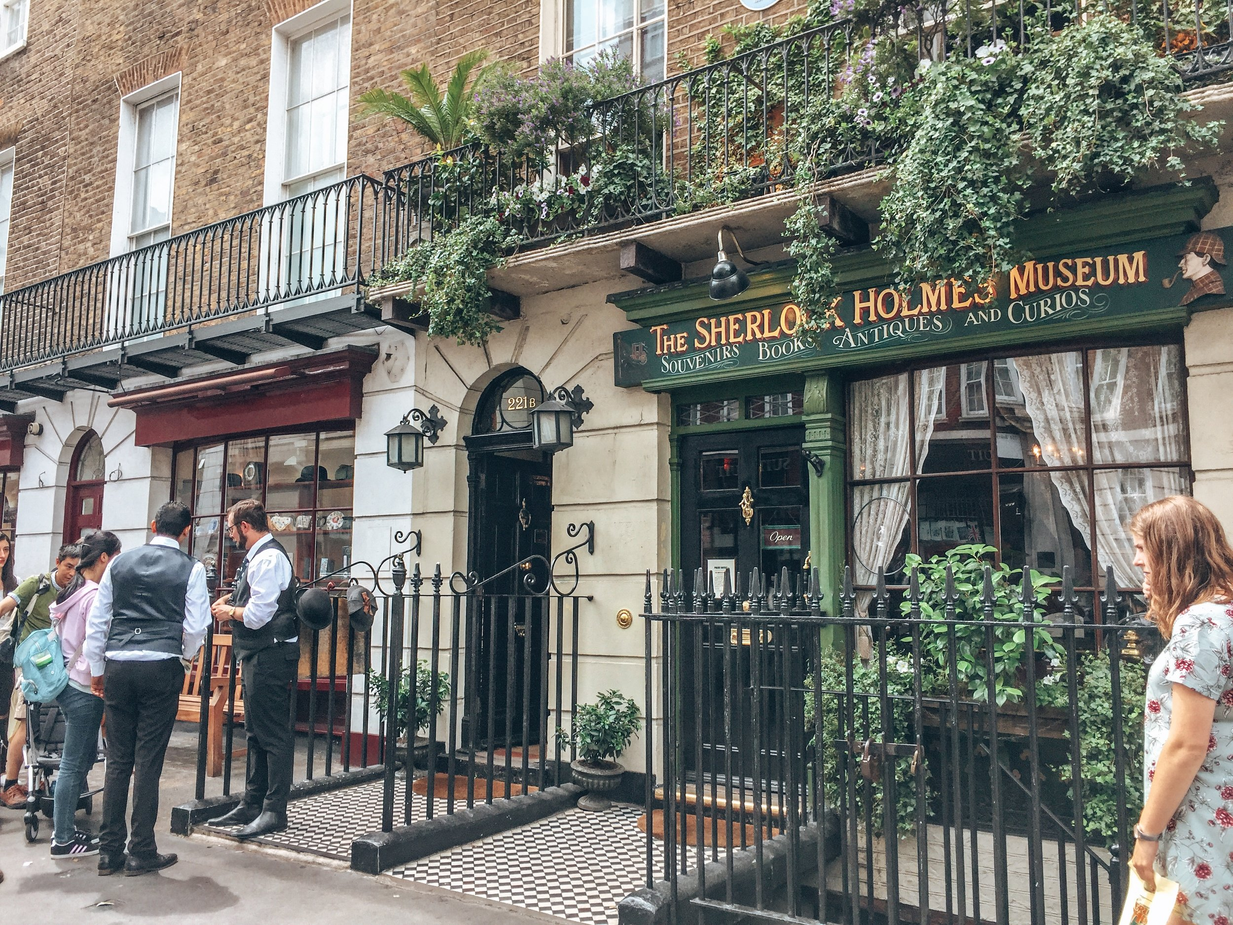 Entrance to the Sherlock Holmes Museum in London