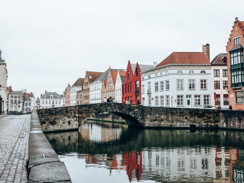 Bruges, Belgium canal and bridge