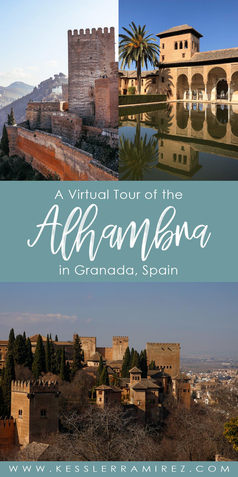 Visiting the Alhambra in Granada, Andaluisa, Spain