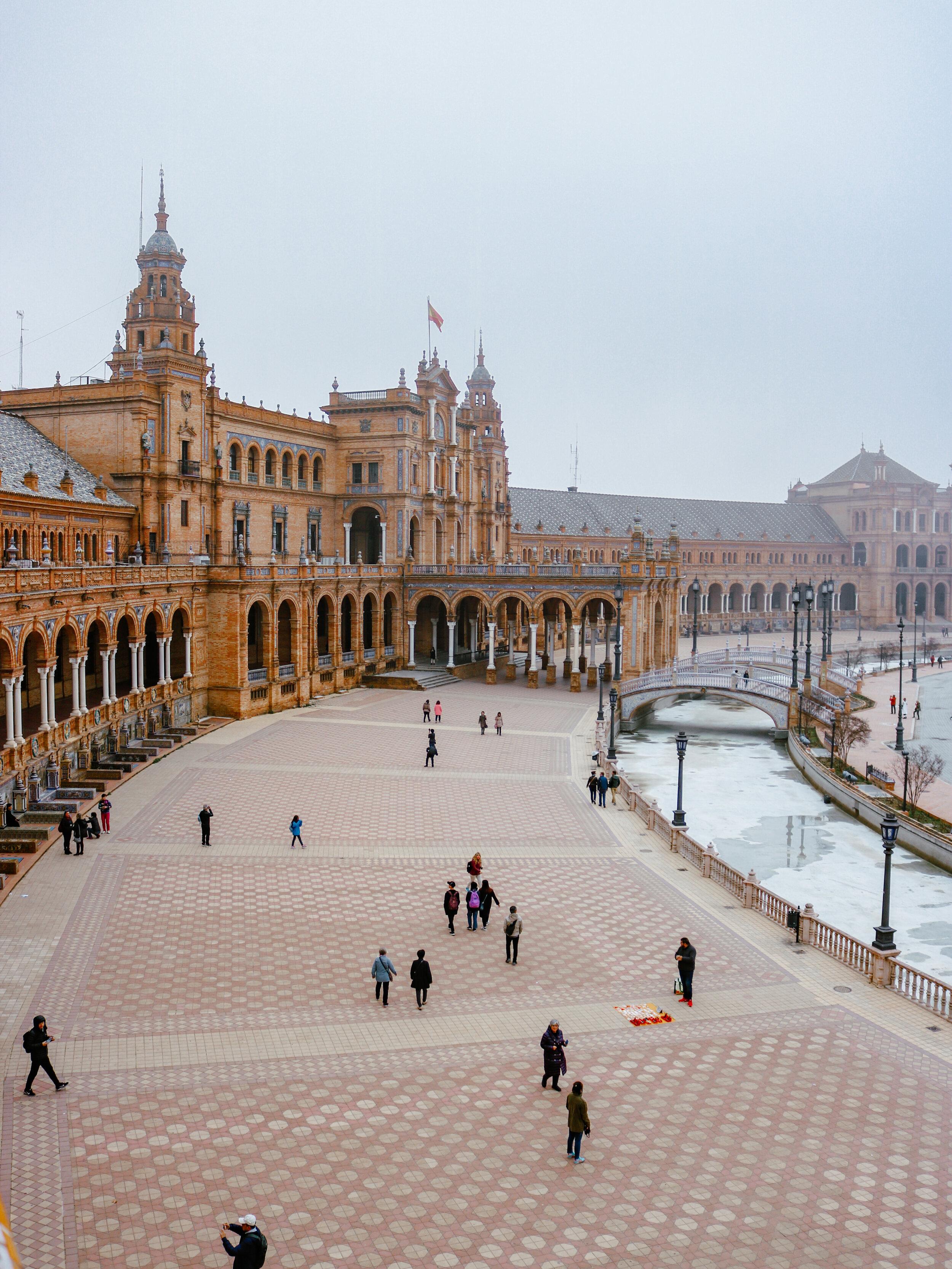 Plaza de Espana Seville Spain Andalusia