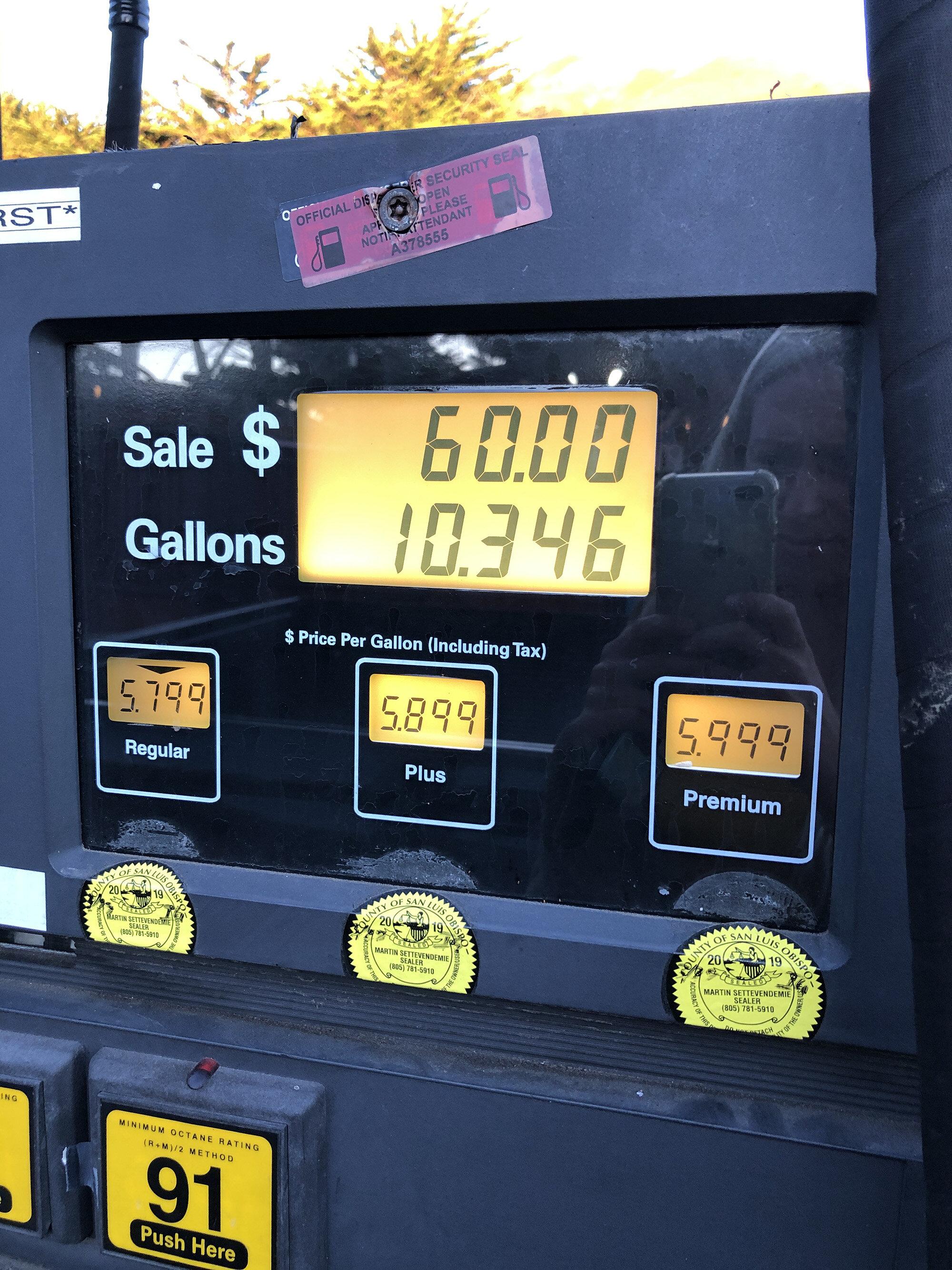 Big Sur Carmel Gas