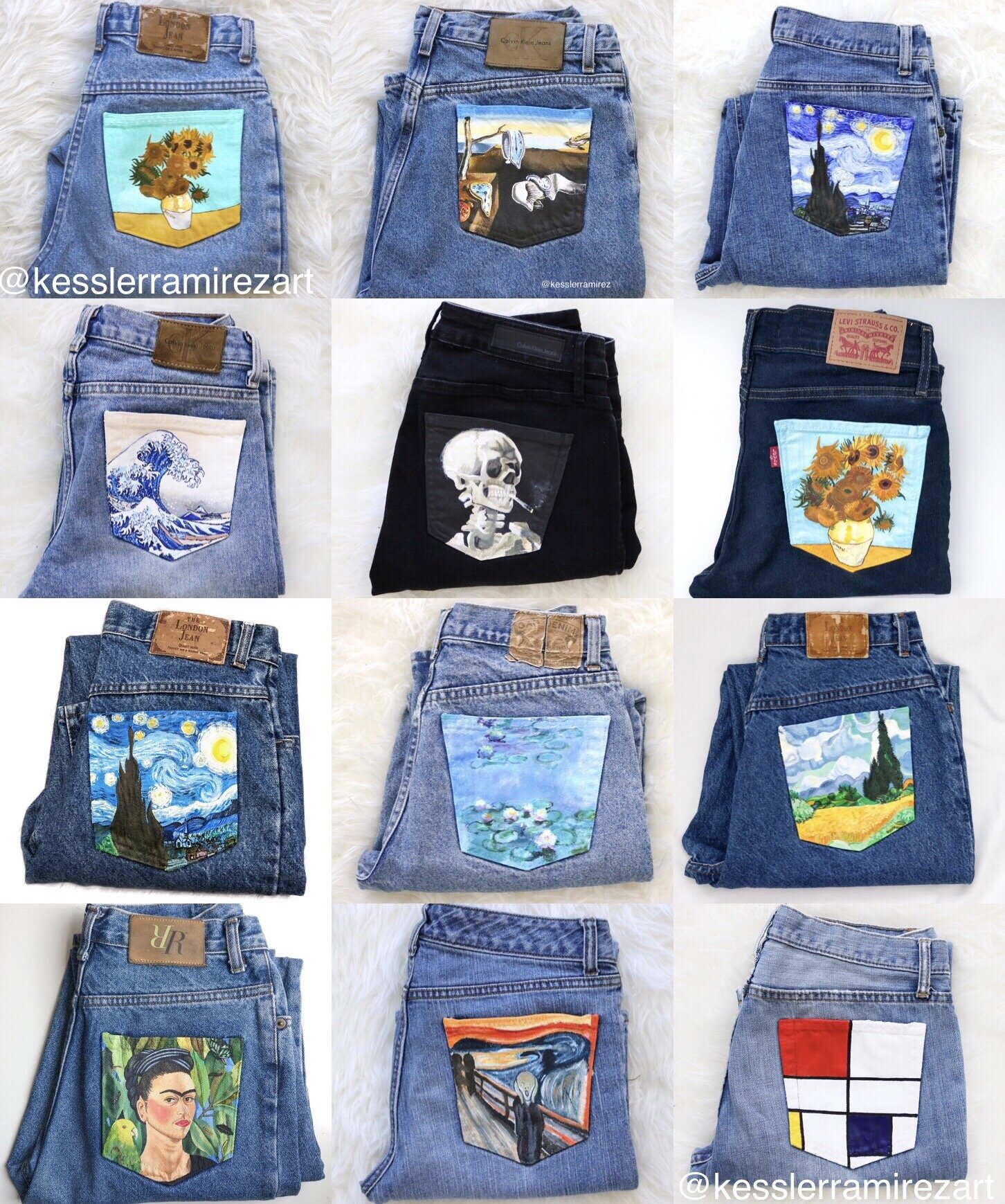 Painted Jeans Collection by Kessler Ramirez