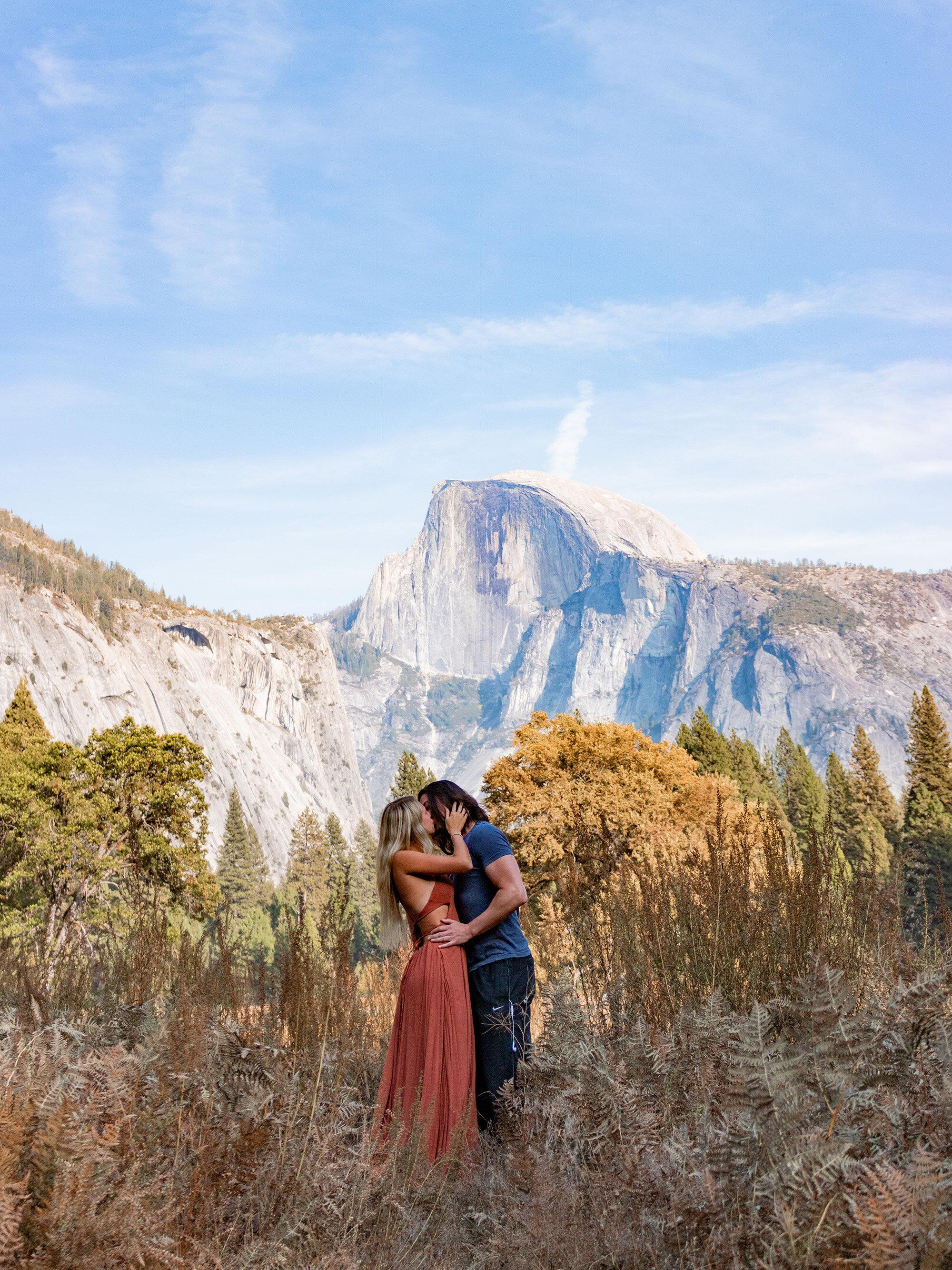 Yosemite Valley Half Dome Couples Photoshoot