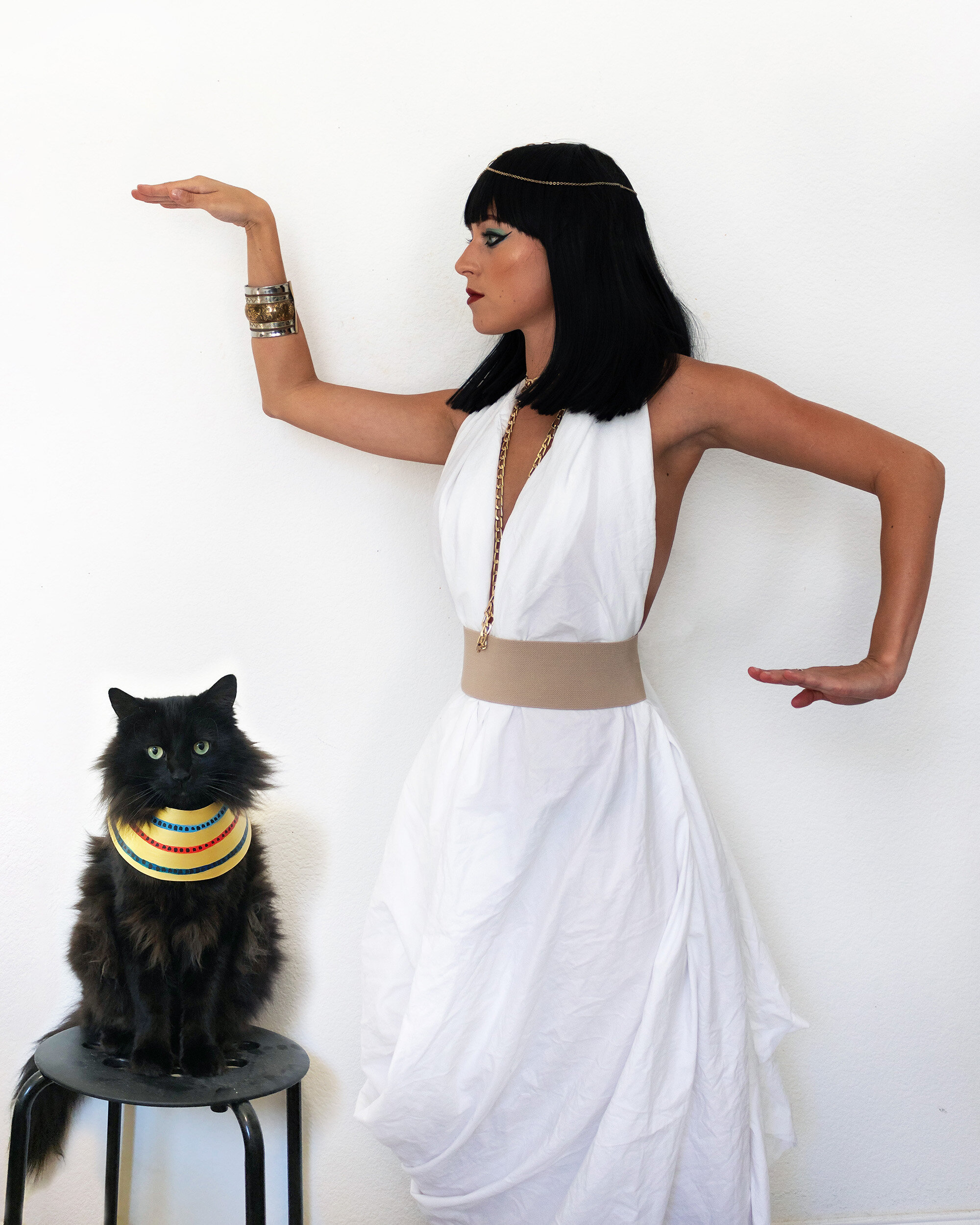 Cleopatra and Egyptian Cat