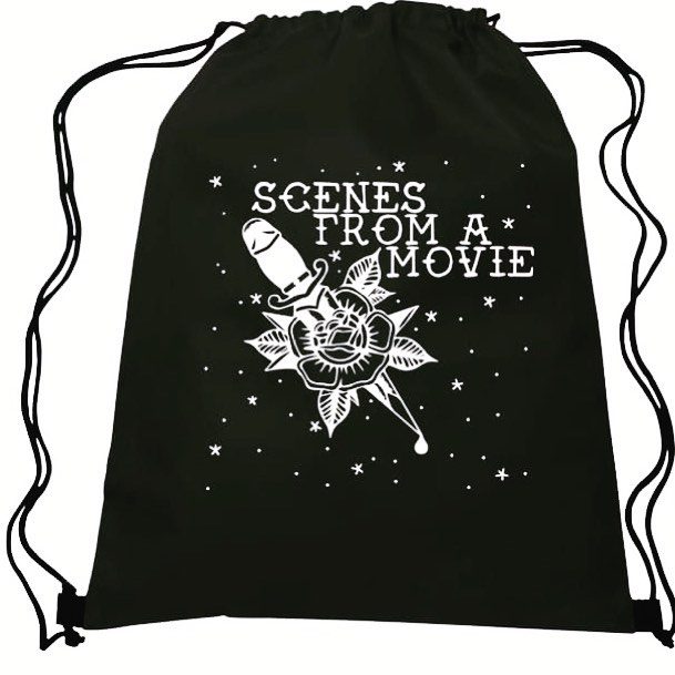 Who's ready for new merch?!?!? Drawstring Backpacks will be available at all of the upcoming shows for only $10!  #luxuriousbags #scenes10 #thesmilingmoose #scenesfromamovie #thelovingtouch #theadelphiamusichall #kingsland #pantera #stryper